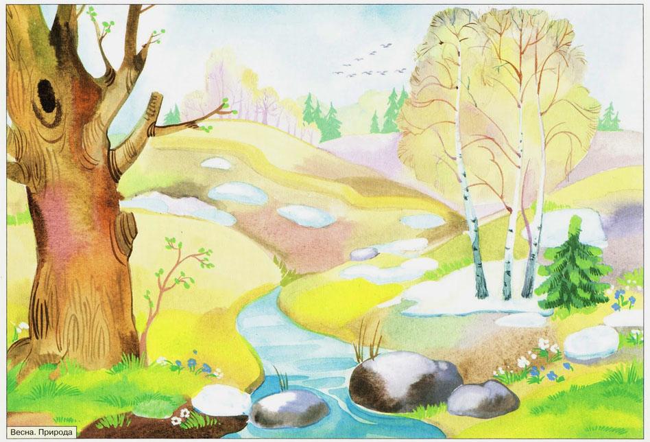 Картинки на тему Весна для детского сада - самые красивые и прикольные 15