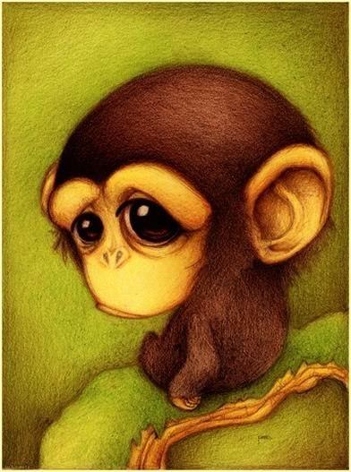 Красивые и прикольные нарисованные картинки животных - лучшая подборка 16