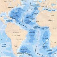 Где находится Атлантический океан Карта мира, точное расположение 1