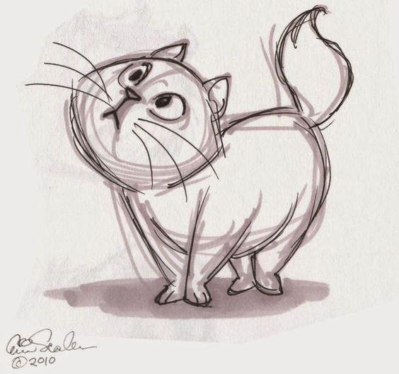 Картинки кошек и котят для срисовки - очень красивые и прикольные 13