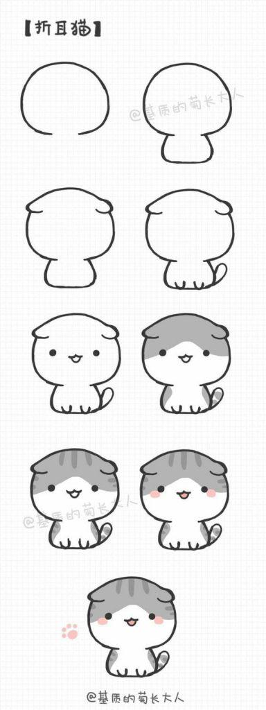Картинки кошек и котят для срисовки - очень красивые и прикольные 5
