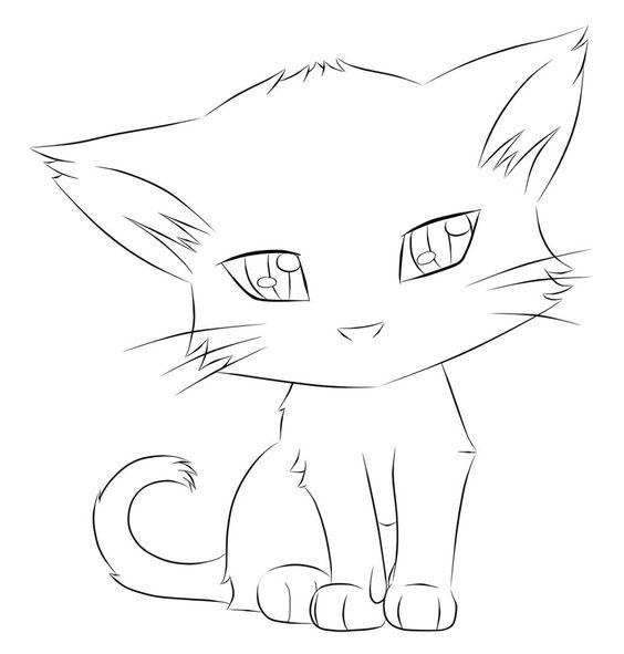 Картинки кошек и котят для срисовки - очень красивые и прикольные 9