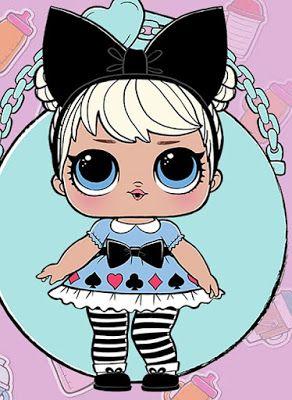 Картинки L.O.L. куклы для срисовки для девочек - скачать бесплатно 6