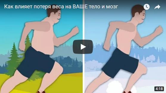 Как влияет потеря веса на ваше тело и мозг - интересное видео