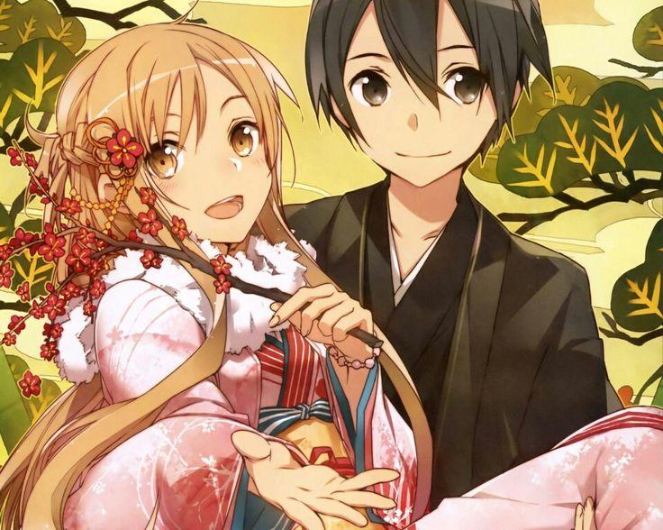 Картинки Асуна и Кирито из Мастера Меча Онлайн - очень красивые 3
