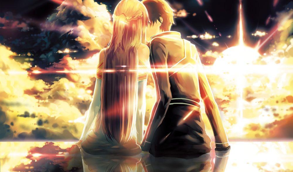 Картинки Асуна и Кирито из Мастера Меча Онлайн - очень красивые 6