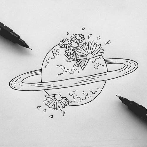 Картинки для срисовки в личный дневник девочки - самые красивые 11