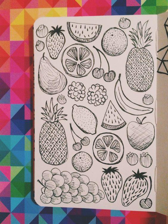 Картинки для срисовки в личный дневник девочки - самые красивые 14