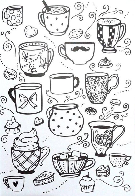 Картинки для срисовки в личный дневник девочки - самые красивые 18