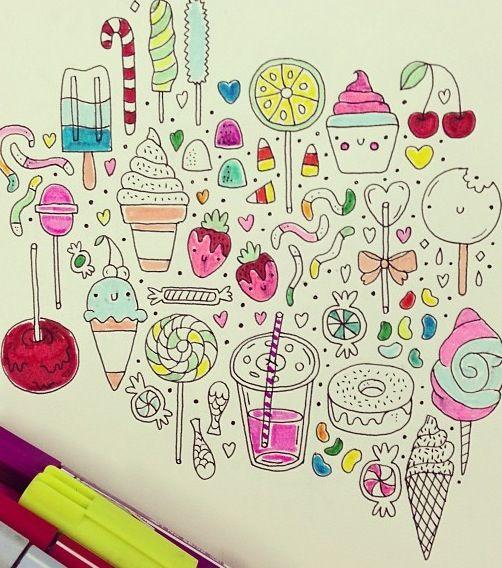 Картинки для срисовки в личный дневник девочки - самые красивые 5