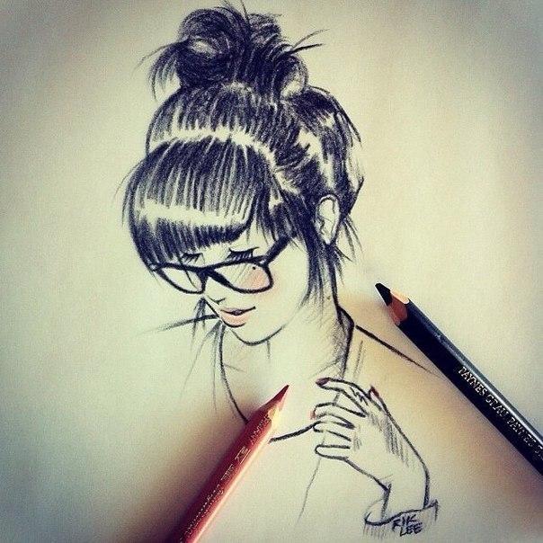 Картинки на аву для девушек нарисованные и рисунки - самые лучшие 14