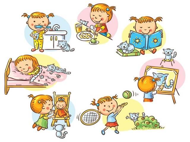 Режим дня - красивые картинки для детей для детского сада 12