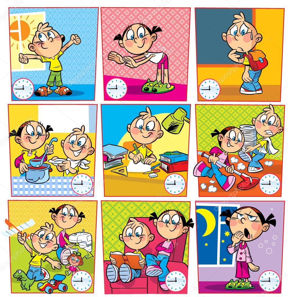 Режим дня - красивые картинки для детей для детского сада 4
