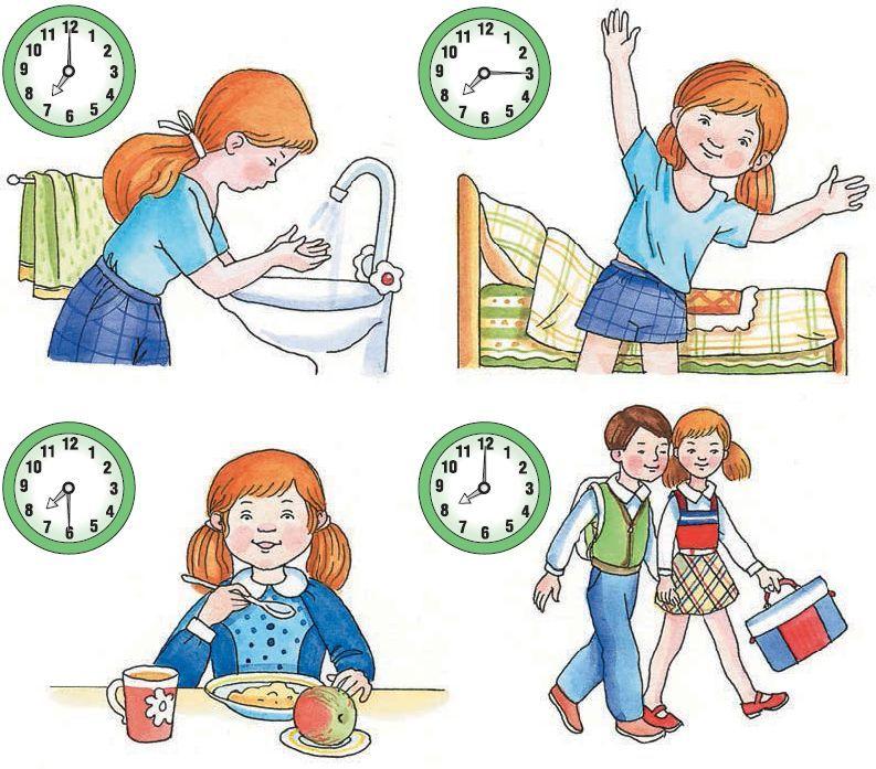 Режим дня - красивые картинки для детей для детского сада 8