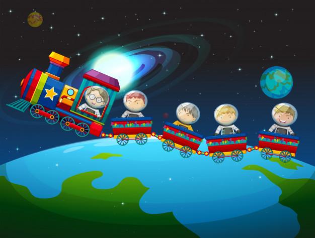 Рисунки для детей ко дню Космонавтики - самые красивые и прикольные 1