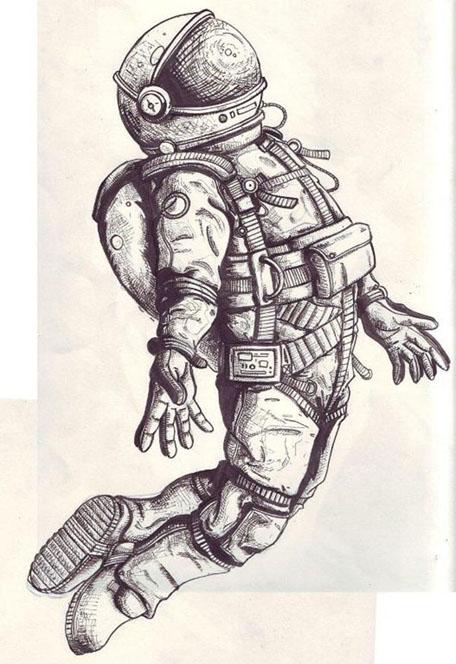 Рисунки для детей ко дню Космонавтики - самые красивые и прикольные 11