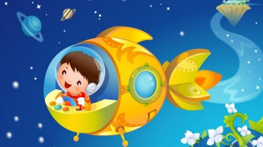 Рисунки для детей ко дню Космонавтики - самые красивые и прикольные 13