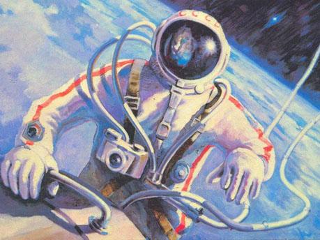 Рисунки для детей ко дню Космонавтики - самые красивые и прикольные 3
