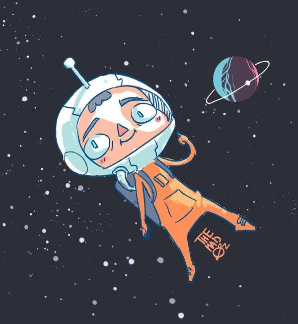 Рисунки для детей ко дню Космонавтики - самые красивые и прикольные 4