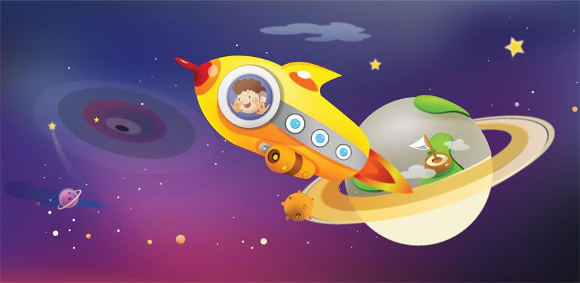 Рисунки для детей ко дню Космонавтики - самые красивые и прикольные 7