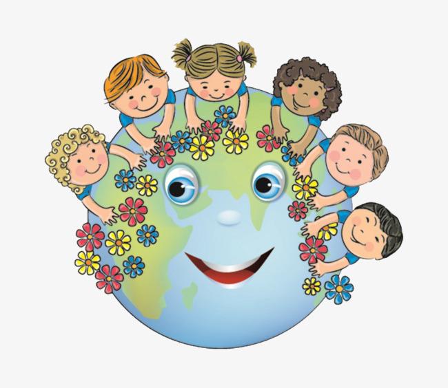 Надписи, картинки земной шар и дети