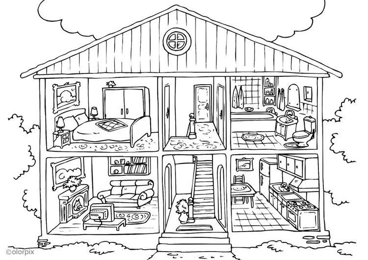 Домик и дом картинки нарисованные - красивые и прикольные 2