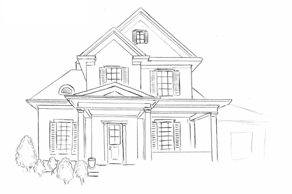 Домик и дом картинки нарисованные - красивые и прикольные 6