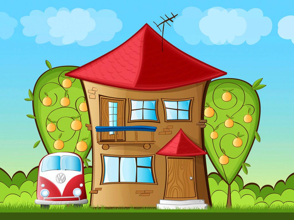 Рисунок веселый дом