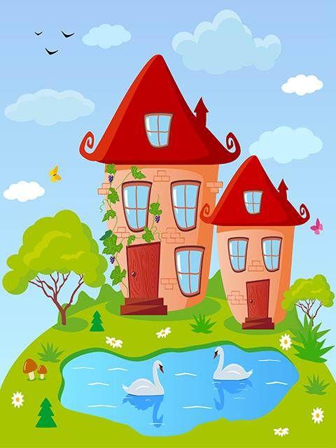 Доброй, рисунок веселый дом