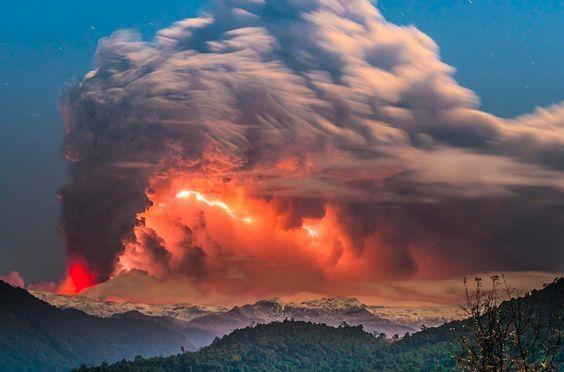 Извержение вулкана, землетрясения, лава - красивые снимки и фото 10