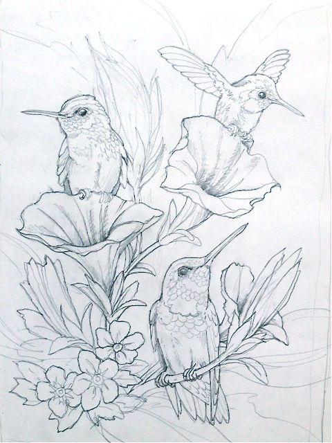 Картинки для срисовки цветы, цветочки - красивые и прикольные 12