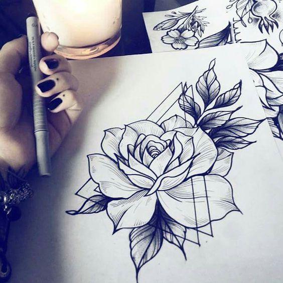 Картинки для срисовки цветы, цветочки - красивые и прикольные 3
