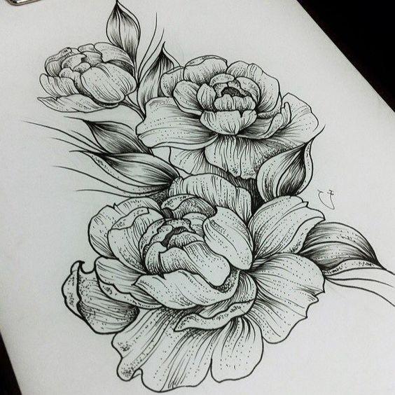 Картинки для срисовки цветы, цветочки - красивые и прикольные 8