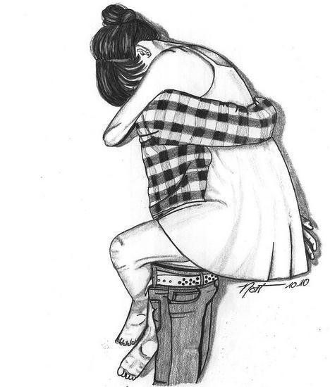 Картинки и рисунки влюбленной пары для срисовки карандашом - подборка 1