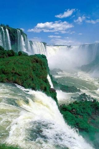 Картинки на телефон водопады и водопад - самые красивые 8