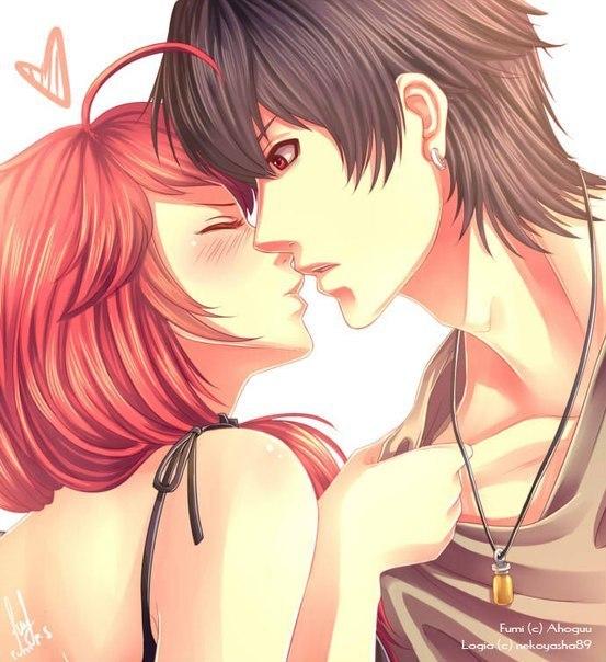 Картинки прикольные с аниме с поцелуями, сбербанка марта