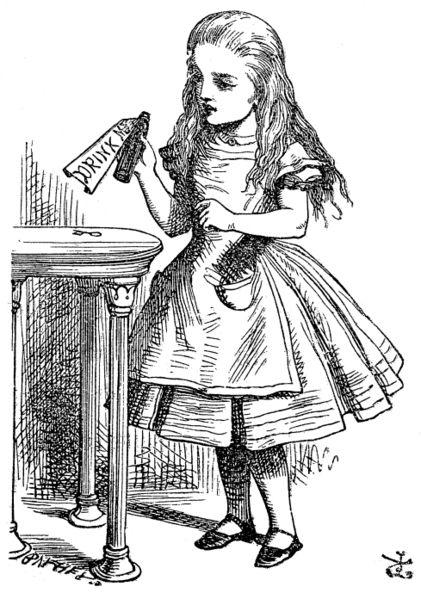 Красивые картинки для срисовки Алиса в Стране чудес - подборка 10
