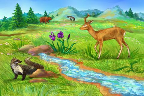 Красивые картинки реки для детей - увлекательная сборка 12