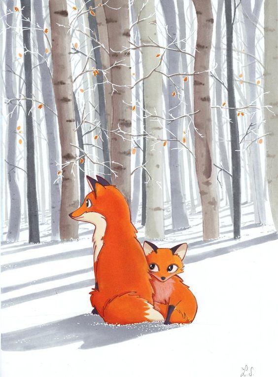Лис и лиса картинки для детей - очень красивые и интересные 18