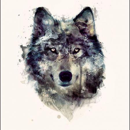 Прикольные и красивые арт картинки волка. Нарисованный волк, фэнтези 7