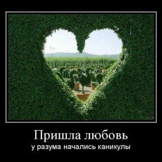Прикольные и смешные демотиваторы про любовь - подборка 6
