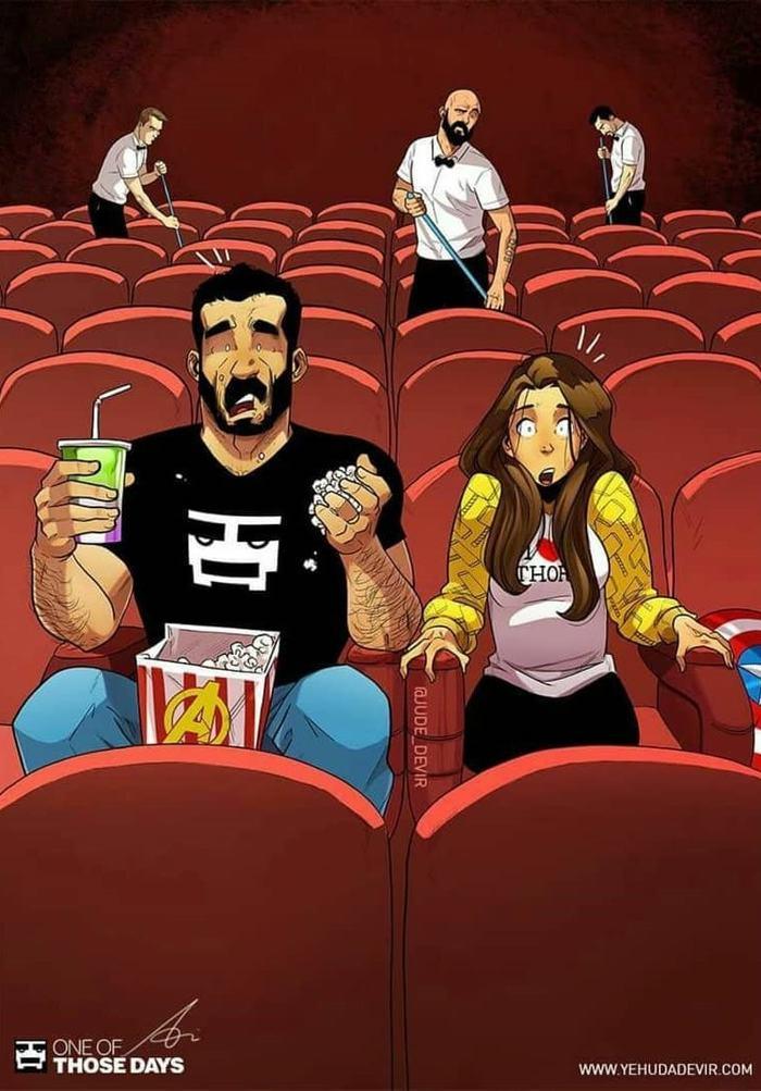 Забавные комиксы Иегуды Ади Девира про его веселую жизнь с супругой 11