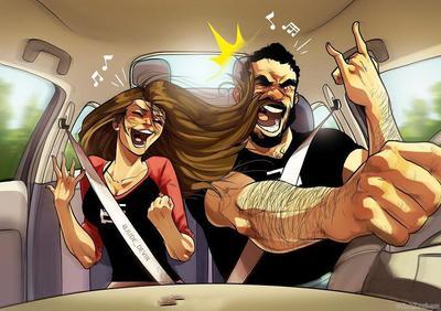 Забавные комиксы Иегуды Ади Девира про его веселую жизнь с супругой 22