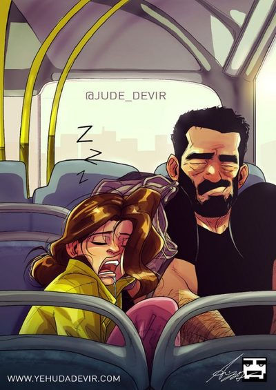 Забавные комиксы Иегуды Ади Девира про его веселую жизнь с супругой 25