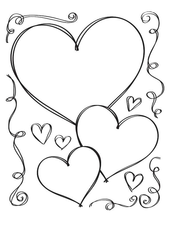 Классные и красивые картинки для срисовки сердечки и сердца - сборка 1