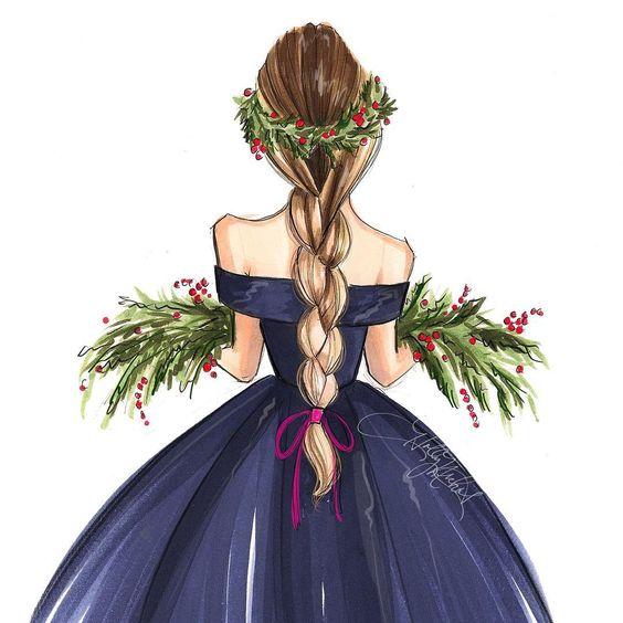 Красивые картинки для девочек цветные и карандашом - сборка 9