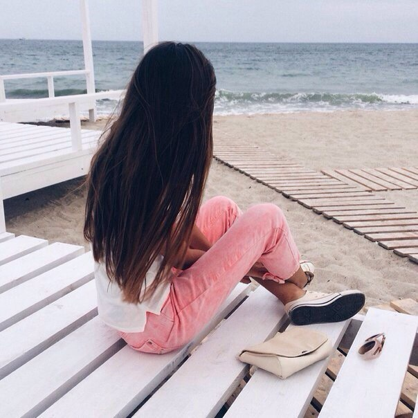 Красивые картинки на аву девушки, море, пляж, вода - подборка 11