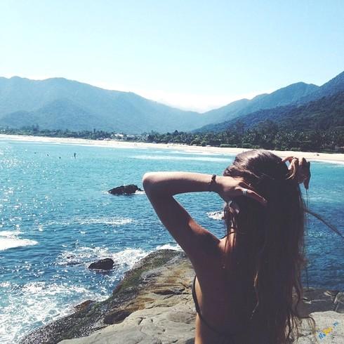 Красивые картинки на аву девушки, море, пляж, вода - подборка 6