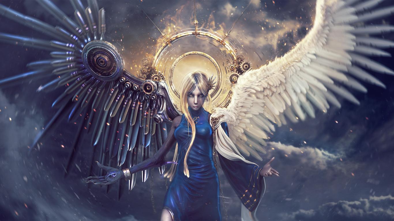 Красивые обои на рабочий стол Ангелы - прикольная подборка 7
