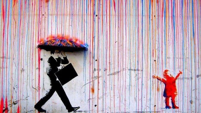 Крутые стрит-арт граффити, картинки граффити - прикольная сборка 10